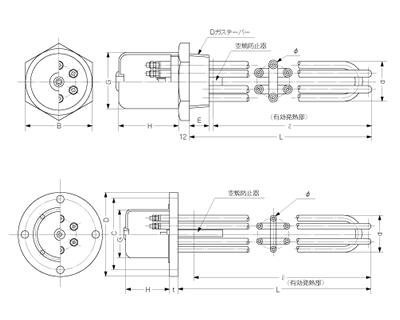 プラグヒーター(IT型)・フランジヒーター(IF型)